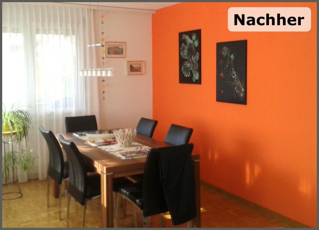 meine arbeiten esszimmer farbhandwerk - Esszimmer Orange